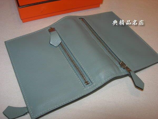 典精品 Hermes 愛馬仕 前後拉鍊 可 長夾 對折成 短夾 皮夾 護照夾 旅行支票 收納夾 現貨