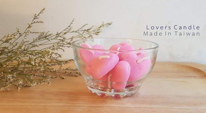 創意玻璃燭杯*1+小愛心蠟燭*6【求婚/燭台/燭光晚餐/氣氛營造/結婚紀念使用】