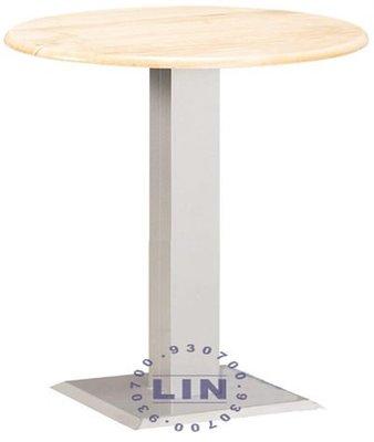 【品特優家具倉儲】R067-15餐桌洽談桌711B烤銀實木圓桌2.5尺