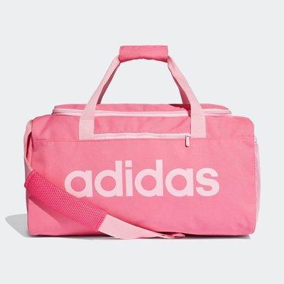 【AIRWINGS】ADIDAS DT8624 粉紅色LINEAR DUFFEL S運動健身包