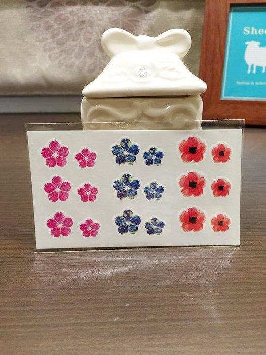 【萌古屋】L系列三色小花朵 - 男女防水紋身貼紙原宿刺青貼紙