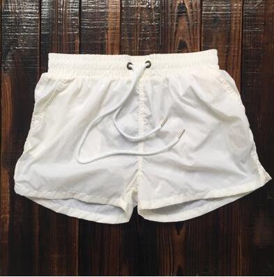 男士寬鬆速幹純色海邊度假溫泉游泳三分褲yhs698