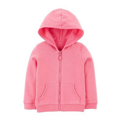 【Carter's】CS女童棉帽外套 桃紅 F03190828-02