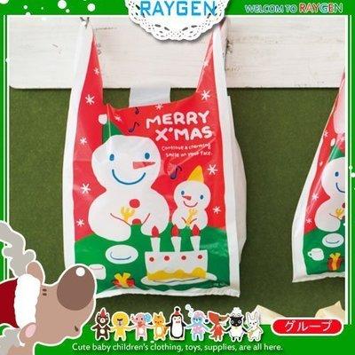 八號倉庫 烘焙餅乾聖誕大小雪人糖果手提袋 餅乾袋 包裝袋 單售【1T202Y434】