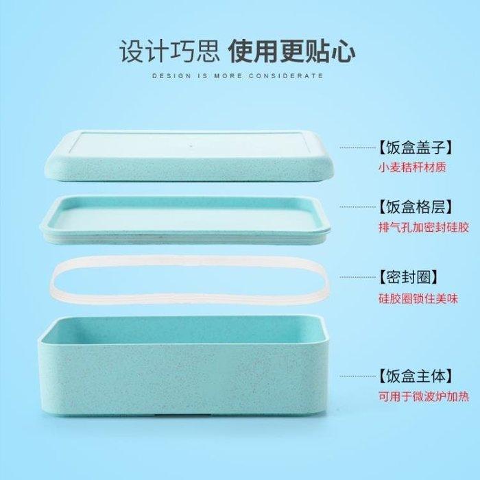 【全新品】餐盒 簡約可愛日式便當盒學生成人微波爐飯盒3三層雙層2創意分格4餐盒  [巧靈店]
