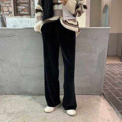 寬管褲完美寬褲款 拖地褲 絲滑寬鬆陽光絨直筒長褲 艾爾莎【TAE8111】