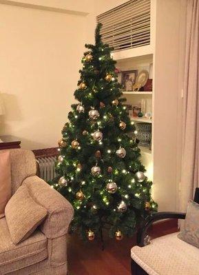 海迪 聖誕裝飾擺件 聖誕樹裝飾品 150CM高綠色聖誕樹帶金色聖誕球