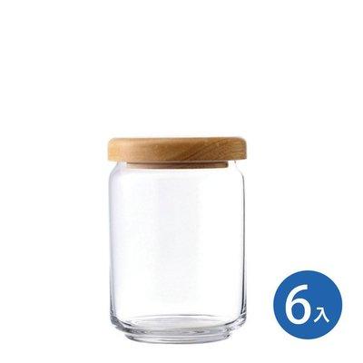 ☘小宅私物☘ Ocean 木蓋儲物罐 650ml (6入) 收納罐 密封罐 玻璃罐 咖啡罐 保鮮罐 現貨附發票