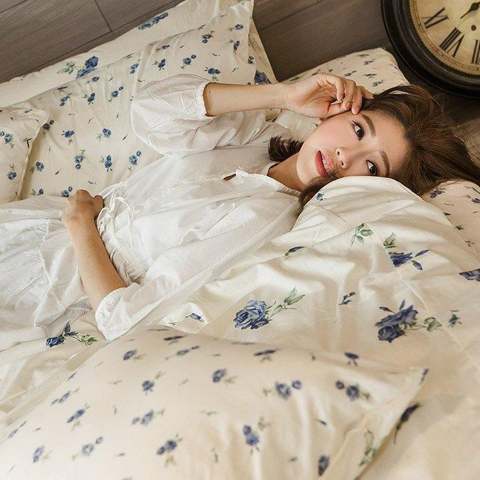 床包被套組 / 雙人加大【在巴黎遇見-玫果雪酪-兩色可選】含兩件枕套,100%精梳棉,浪漫碎花,戀家小舖