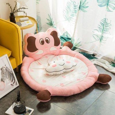 家飾北欧风时尚简约可愛靠背头枕地垫客厅地毯家用宝宝爬爬垫榻榻米垫