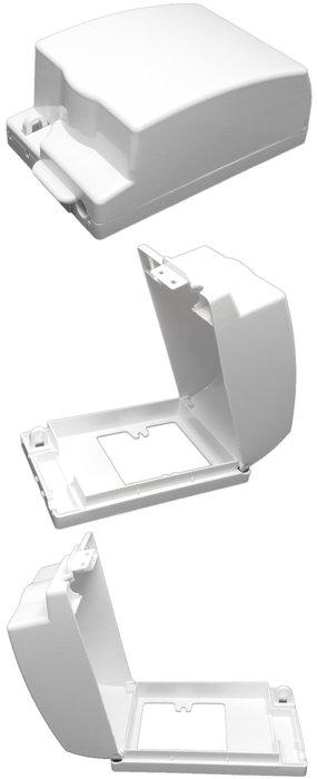 31W#白色 安全保護防水蓋子,可加鎖,開關插座盒蓋板PS防水盒子,防雨罩防濺盒,防潮防塵防潑水防漏電觸電,厠所浴室戶外