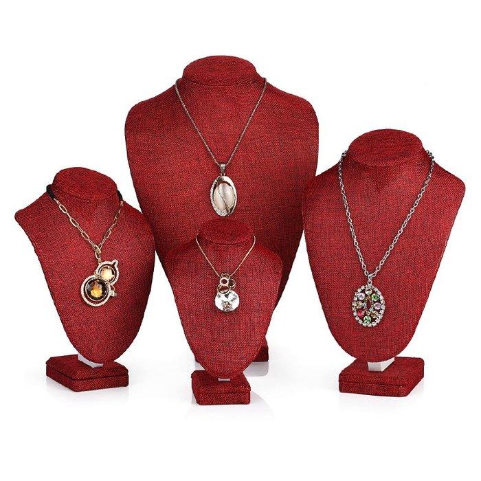 聚吉小屋 #麻布項鏈架 人像脖子頸模特架首飾架 吊墜項鏈珠寶飾品展示道具