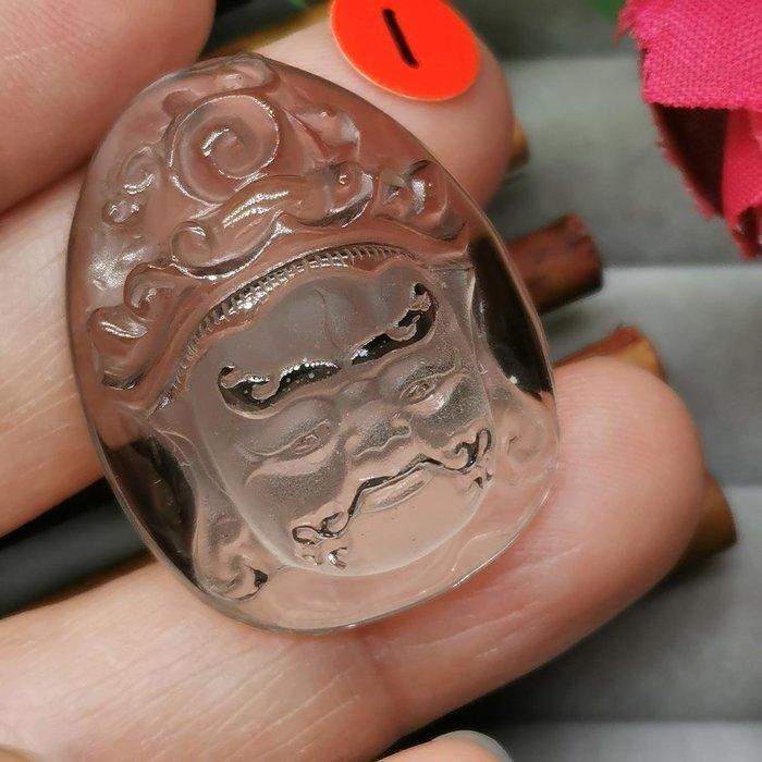 黃財神  高檔天然 茶水晶 項鍊墜 雕工精緻  ◎結緣價1280◎二姐的店W265-1