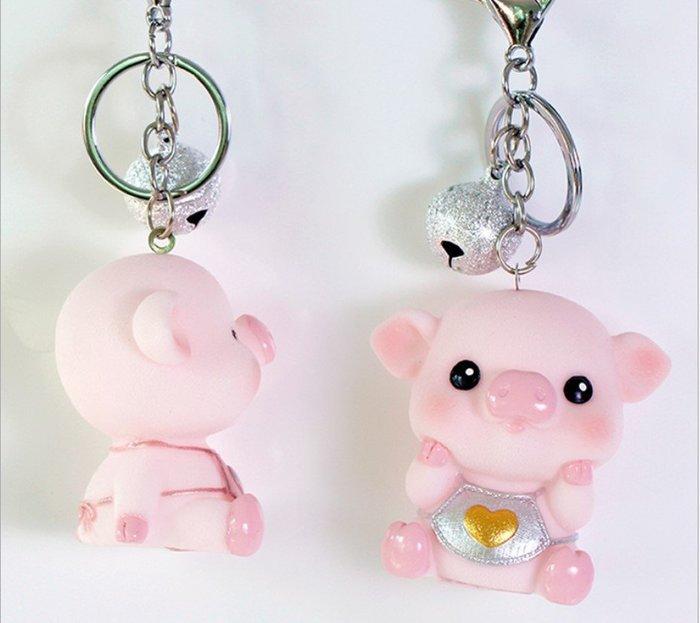 zakka豬寶寶鈴鐺鑰匙圈.鑰匙扣.萌萌豬生活館