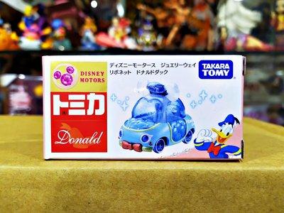 ☆DumpyToy☆ 現貨 代理版 TOMICA 小汽車 Disney 迪士尼JW粉鑽蝴蝶結小車 唐老鴨 DS13434