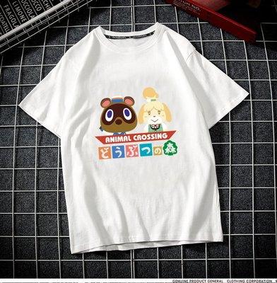 @西西小鋪 時尚 幽默動物之森t恤動漫周邊游戲二次元短袖定制夏裝動物森友會服裝衣服