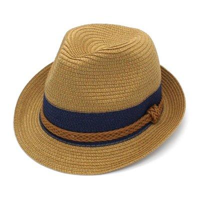 草帽 韓版潮女式夏季遮陽透氣夏涼帽男士草編卷邊防曬英倫小禮帽草帽子
