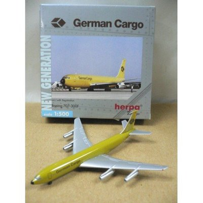 HERPA WINGS 1/500 GERMAN CARGO BOEING 707-300F D-ABUO (512329)