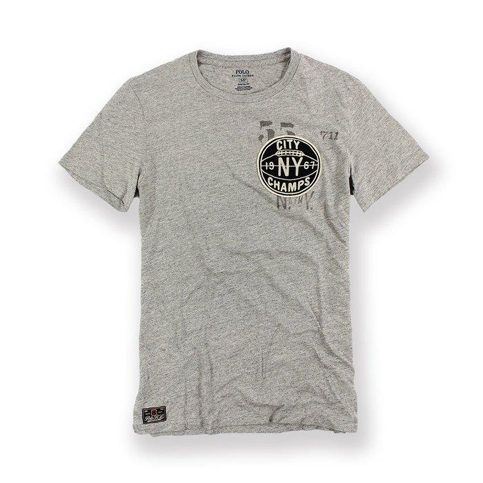 美國百分百【全新真品】Ralph Lauren T-shirt 短袖 T恤 RL 上衣 polo 灰色 M號 I104