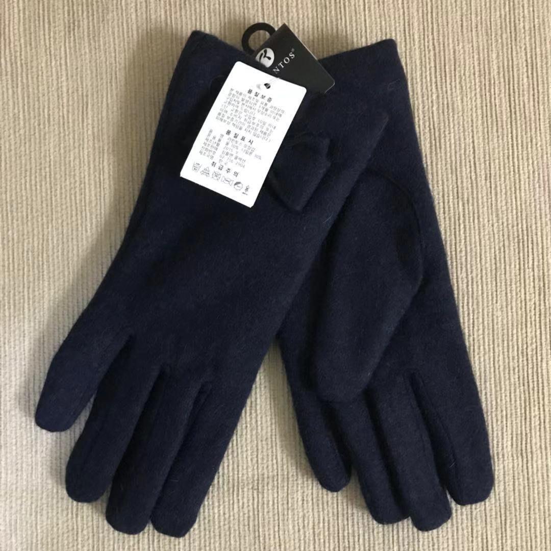 韓製女用羊毛手套 抗寒氣質手套 內鋪毛超保暖