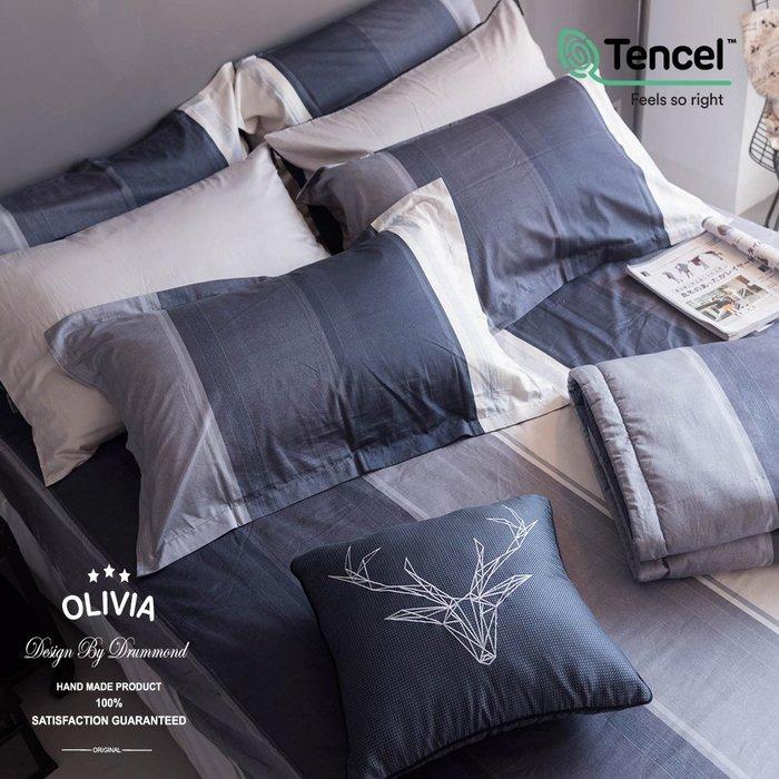 【OLIVIA 】DR5002 Clark  標準單人床包枕套兩件組    MOC莫代爾棉 台灣製