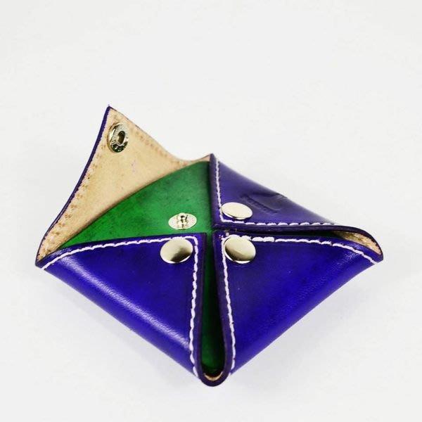 { POISON } FUGUE WORKS x POISON COIN CASE 訂製鋼印 手染紫綠牛革零錢包