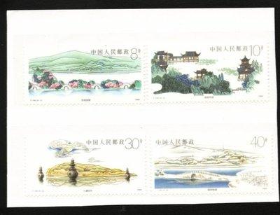 (2 _ 2)~大陸T字郵票--T144--杭州西湖--- 4 全---陸1989年