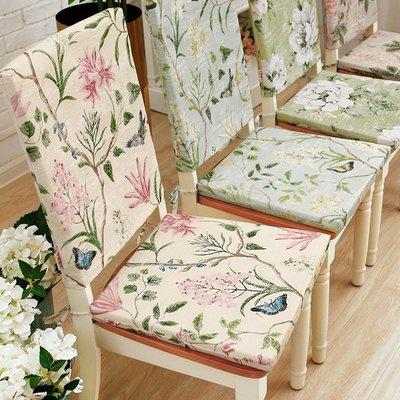 SUNNY雜貨-棉椅墊套餐椅子坐墊可拆洗餐桌套裝美式現代布藝四季可用#防塵罩#家居用品