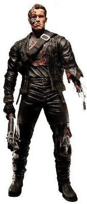 NECA 電影魔鬼終結者2 Terminator 2 Judgment Day T-800 阿諾史瓦辛格  戰損版 1/6 約30cm