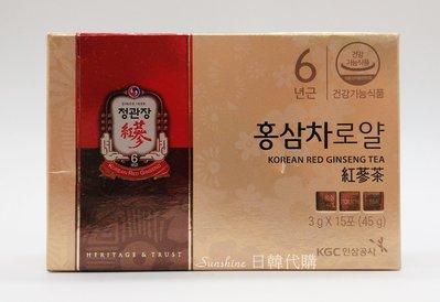 限量現貨 正官庄 紅蔘茶 ROYAL 3g 15入 韓國 免稅店代購 禮盒