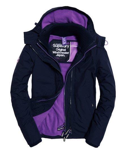 特價款 極度乾燥 Superdry Arctic Windcheater 連帽刷毛保暖 風衣 外套 海軍藍 紫 現貨