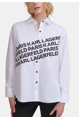 Karl Lagerfeld Paris Logo Angled Shirt5/2止