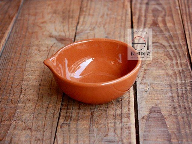 +佐和陶瓷餐具批發+【XL071110-6朱泥片口珍味缽-日本製】日本製 珍味缽 小菜缽 醬味碟 小缽 食器