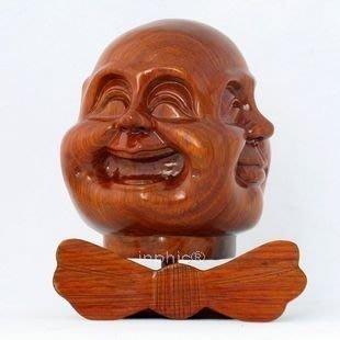 INPHIC-宗教 百年老店紅木工藝品 喜怒哀樂 花梨木 四面佛