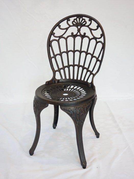【南洋風休閒傢俱】戶外休閒桌椅系列- 皇冠椅 戶外休閒鋁合金餐椅 鑄鋁戶外椅 適民宿 餐廳 (#022C)