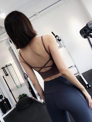 哆啦本鋪 細肩帶運動內衣女瑜伽吊帶背心健身房美背胸衣文胸輕熟健身服上衣D655