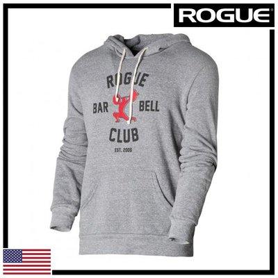 ►瘋狂金剛◄ 灰/紅 ROGUE BARBELL CLUB 2.0 HOODIE 槓鈴俱樂部2.0 帽T