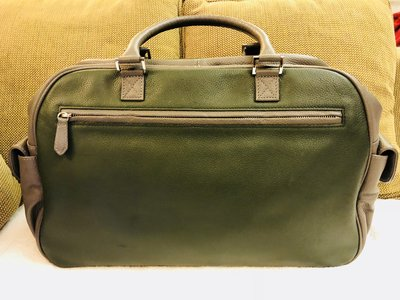 MAYER - CUSTOMISED DARK GREEN X GREY LEATHER HANDBAG