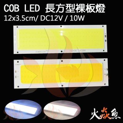 火焱魚 LED COB 長方型 12x3.5cm 裸板 暖白 3000K 白 6500K 爆亮 日行燈 汽車 機車 板燈