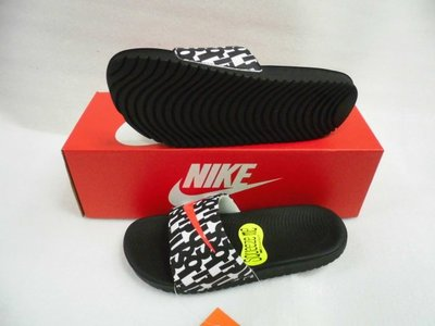 【n0900台灣健立最便宜】2018 NIKE 兒童運動拖鞋 Kawa Print (GS) Slide 819358-
