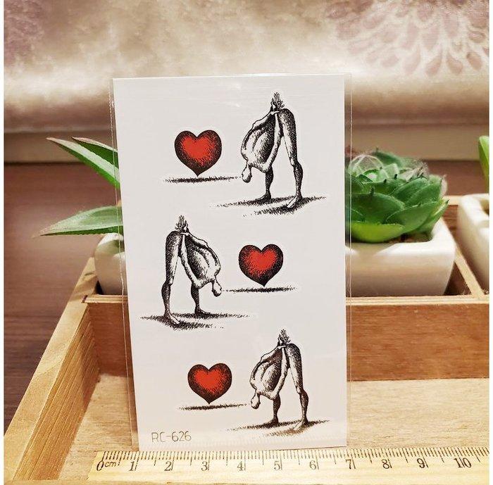 【萌古屋】愛心系列 - 男女防水紋身貼紙刺青貼紙RC-626