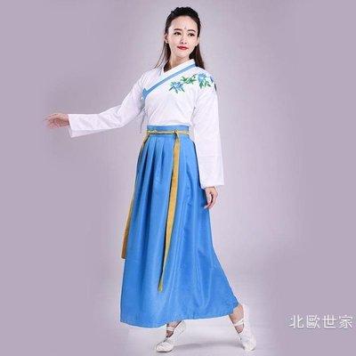漢服女古風日常女裝舞蹈服襦裙戲曲服裝演出服學生古裝畢業促銷大減價!