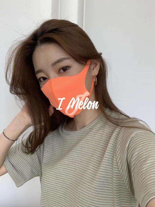 ::: i-MelOn ::: 100%韓國空運【現貨】機能涼感抗UV口罩※韓流必戴/橘/黑/黃/粉