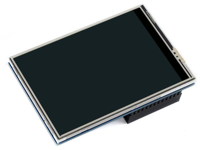 【莓亞科技】樹莓派3.5吋 320×480 LCD 電阻式觸控螢幕(C, 高速SPI, 含稅現貨NT$680)