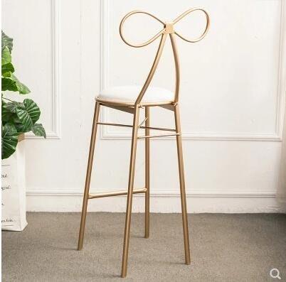 吧臺椅歐式酒吧椅現代簡約高腳凳靠背吧椅家用酒吧凳前臺高凳子igo