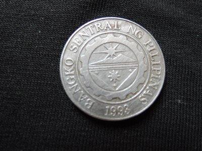 【寶家】1993年 菲律賓 Philippines 1piso 公牛幣 尺寸23mm絕版錢幣. 品項如圖@317