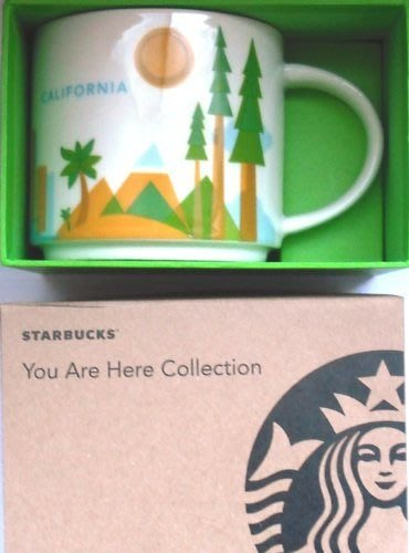 美國星巴克 statbucks You Are Here Collection California  馬克杯
