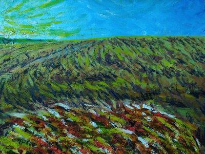 (特價商品)  【台灣人珍瓊-200802】Wheat field in the sunset