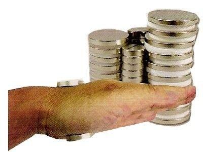 益智城新館《強力磁鐵/釹鐵硼/超強力磁鐵》~超強力釹鐵錋磁鐵不同直徑組合(厚度3mm,可單買