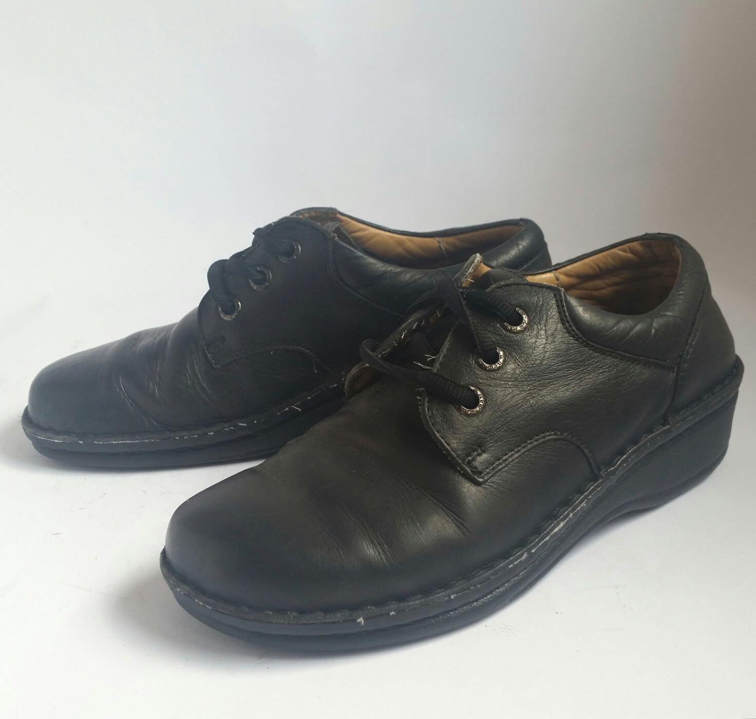 LU NEW 真皮黑色休閒皮鞋 22號小碼 B09